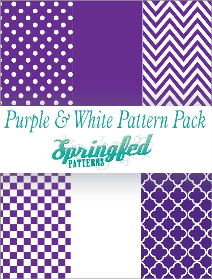 Purple Amp White Pattern Craft Vinyl Project Pack Of Adhesive