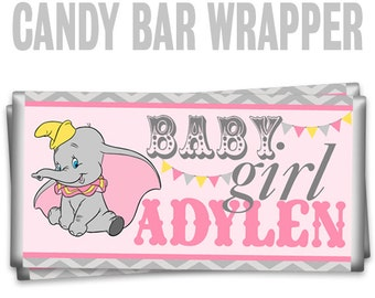 CBW-775: Vintage Elephant Candy Bar Wrapper To Match Your Theme