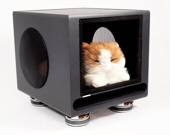 Subwoofer Pet House III, Pet Furniture, Dog House, Cat House, Pet Bed - made from Upcycled Klipsch Subwoofer