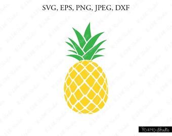 Pineapple SVG, Pineapple Clipart, Pineapple print SVG, SVG Files, Cricut, Silhouette Cut Files