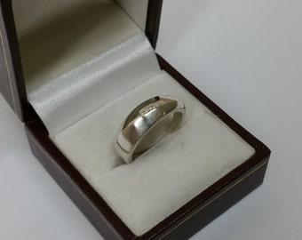 17.5 mm ring Silver 925 crystals elegant SR345