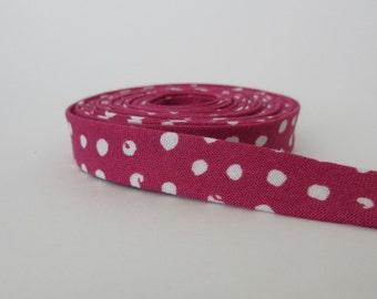 Double Fold Bias Tape - Berry Dots - 3 Yard Bundle