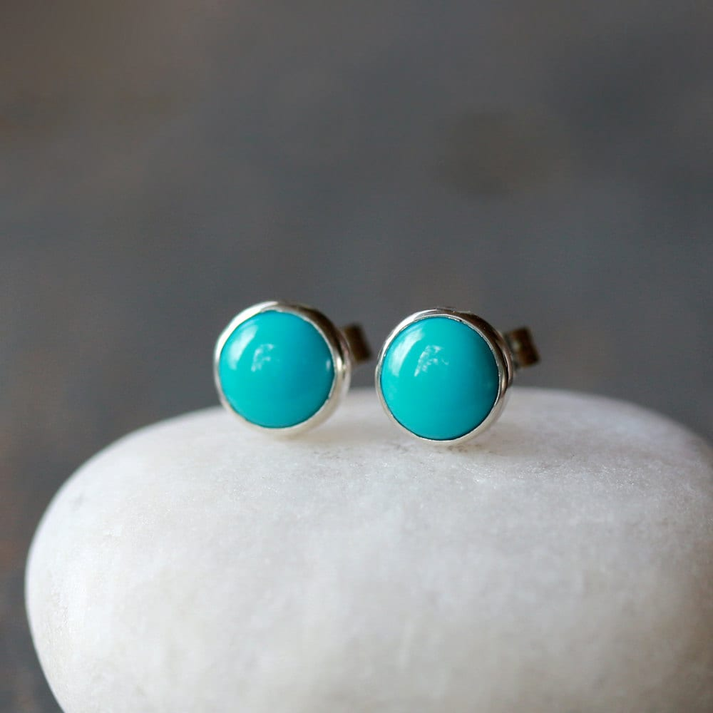 image product silver silverwize stud turquoise sterling products real earrings