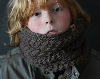 Crochet PATTERN Montero Crochet Cowl Pattern Toddler, Child, Adult