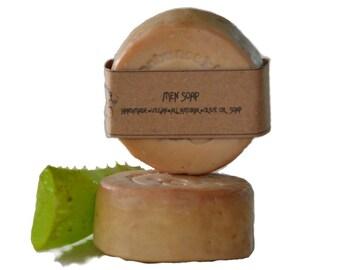 ALOE MEN SOAP -  Men's Soap - Unscented Soap - Handmade Soap - Natural Aloe Soap - Natural Soap - Vegan Soap