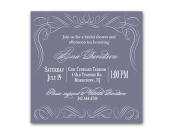Victorian Flourish Bridal Shower Invitation- Set of 10