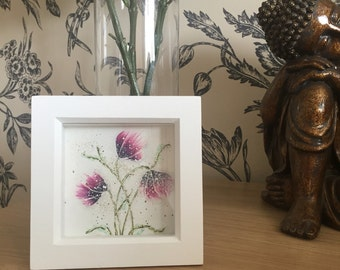WALL ART  Handcrafted flower picture