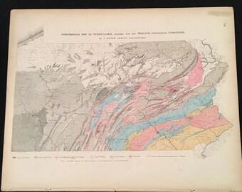 Topographic maps Etsy