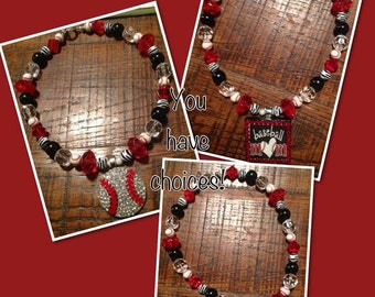 Baseball Pendant on Team Spirit Beads