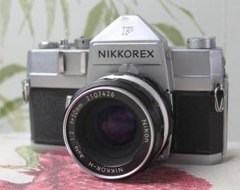 Rare Nikkorex F 35mm Film Camera