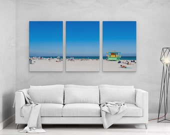 Summer in Miami Beach - panels art canvas print wall home decor interior design