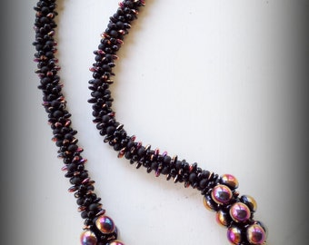 """TUTORIAL ONLY - """"Copper Magic"""" Kumihimo Necklace"""