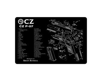 Gun Cleaning Mat CZ P-07 Maintenance Range Firearm Pistol
