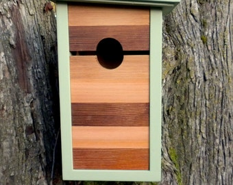 Birdhouse, modern craftsman- Mind the Gap