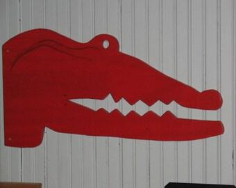 Aligator Art - Red - Red Aligator - Gator Art