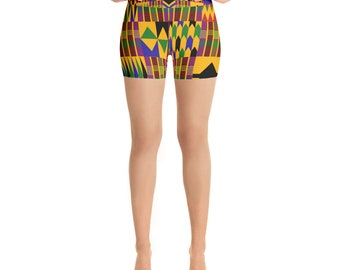 Kente Yoga Shorts 01