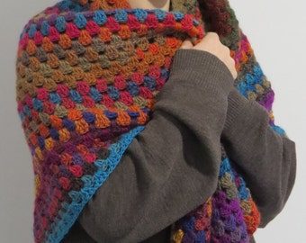 Shawl Rich Autumn colours Womens