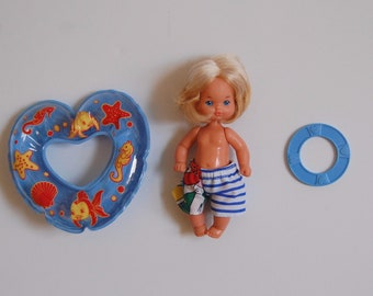 Heart Family Baby Doll, Blonde Beach Boy Doll, Vintage Barbie Dolls, 80's Mattel