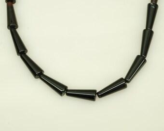 """Onyx Cone Beads 15"""""""