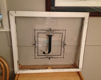 Classic Monogram in Decorative Frame Vinyl Wall Decal