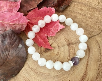 Rose Quartz Amethyst Love Bracelet