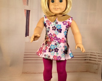 "18"" Girl Doll Dress, Tunic, Trendy Capris, Sparkle collar, Glitter shoe option, Pants/Tunic, Glitter dress,Fits American.Girl doll clothes"