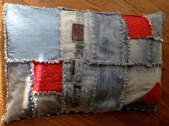 Small Blue Jean Dog Bed