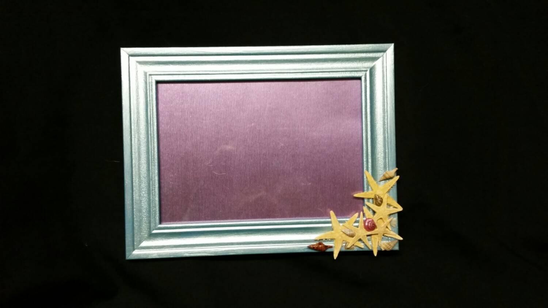 Un marco de imagen teal perla playa temática 5 X 7
