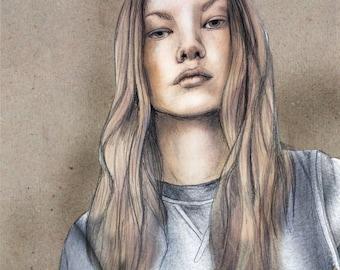Custom Portrait Illustration, Personalised Drawing, Handmade, Pencil | Charcoal