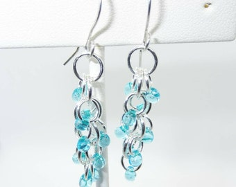 Handmade Shaggy Loops Sterling Silver Earrings - Prima Donna Beads