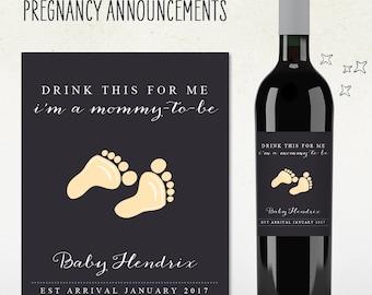 Custom Wine Label - Pregnancy Announcement! (Personalized)