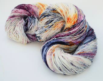 Hand dyed classic sock yarn - speckle dyed