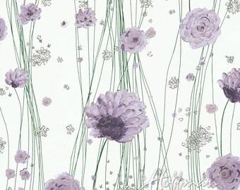 Hoffman Fabric Painted Petals Purple