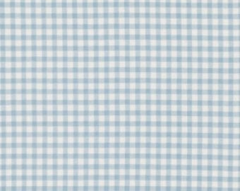 1 yard Tanya Whelan / Petal Collection / Check in Blue White/ Gingham / Cotton Quilting Fabric/ By The Yard