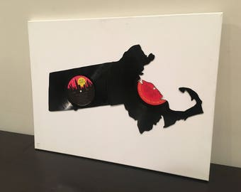 Massachusetts Vinyl Record Art