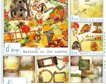 Walking in the Leaves - Digital Scrapbooking Collection - Automne - Scrapbook - Imprimable