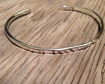 Bracelet hand forged cuff fine silver bracelet handmade jewelry hammered stackable cuff personalized gift for her stacking bracelet