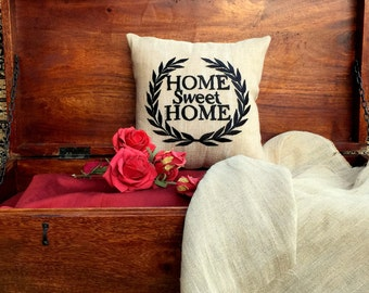 30% OFF Home Sweet Home Cushion Pillow Couple Valentine Wedding Baby Birthday Love Gift All Sizes Insert Included.