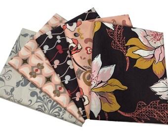Art Gallery Rock n Romance Bundle, FAT QUARTER Bundle, Pat Bravo, Shabby Chic, Quilt Fabric, Quilting, Modern Farmhouse, Floral, 5 skus