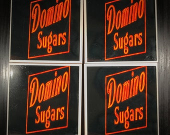 Domino Sugars Iconic Neon Sign - Baltimore - Photo Coasters SET OF 4
