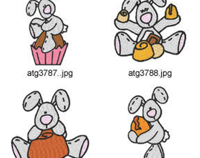 Chocolate-Bunnies ( 7 Machine Embroidery Designs from ATW ) XYZ17C