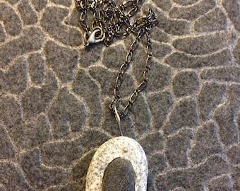 Maine Beach Stone Pendant