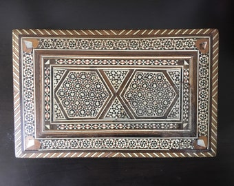 Vintage Middle Eastern Marquetry Keepsake Box | Jewelry Box | Trinket Box