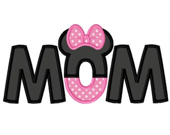Ms Mouse Mom Applique Design