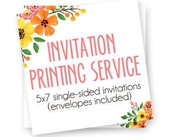 Invitation Printing Service, Printed Bridal Shower Invites, Printed Party Invitations