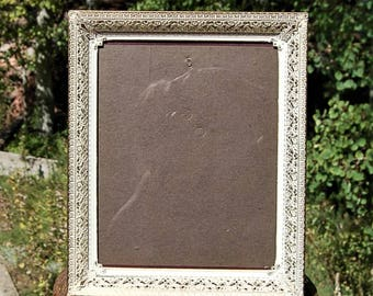 Vintage Gold and White Ornate Frame