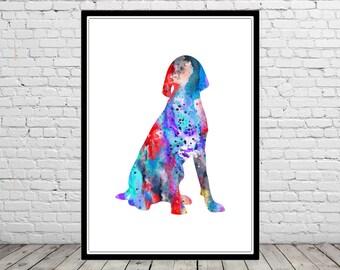 German Wirehaired Pointer, watercolor art print, watercolor Pointer, dog print, Pointer, watercolor print dog, animal art, dog (3297b)