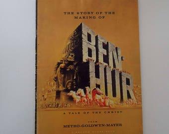 Vintage 1959 The Story Of The Making Of Ben Hur Film Movie Programme MGM Movie Memorabilia Ephemera Charlton Heston