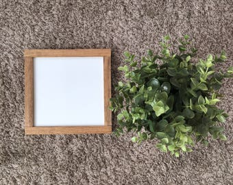 Custom white with brown frame wood sign