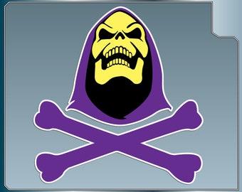 SKELETOR Skull & Crossbones vinyl decal from Masters of the Universe Car Window Laptop He-Man Sticker